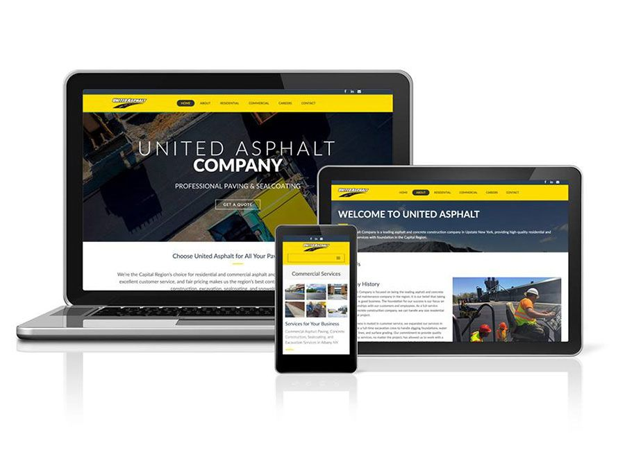 asphalt paving website design
