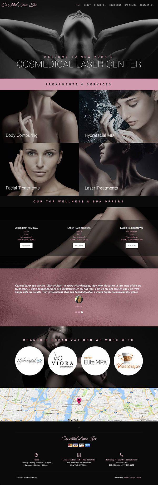 laser spa website design