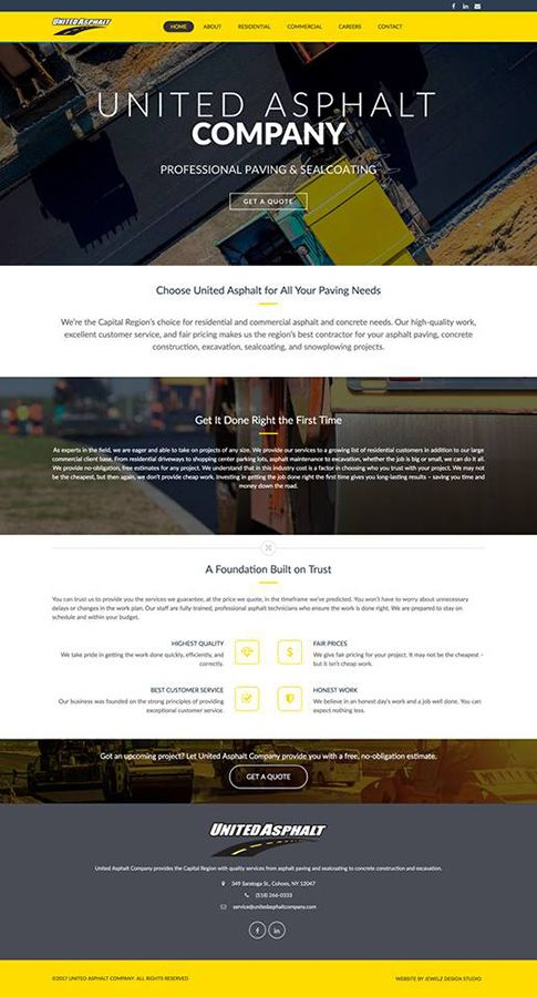 paving web design