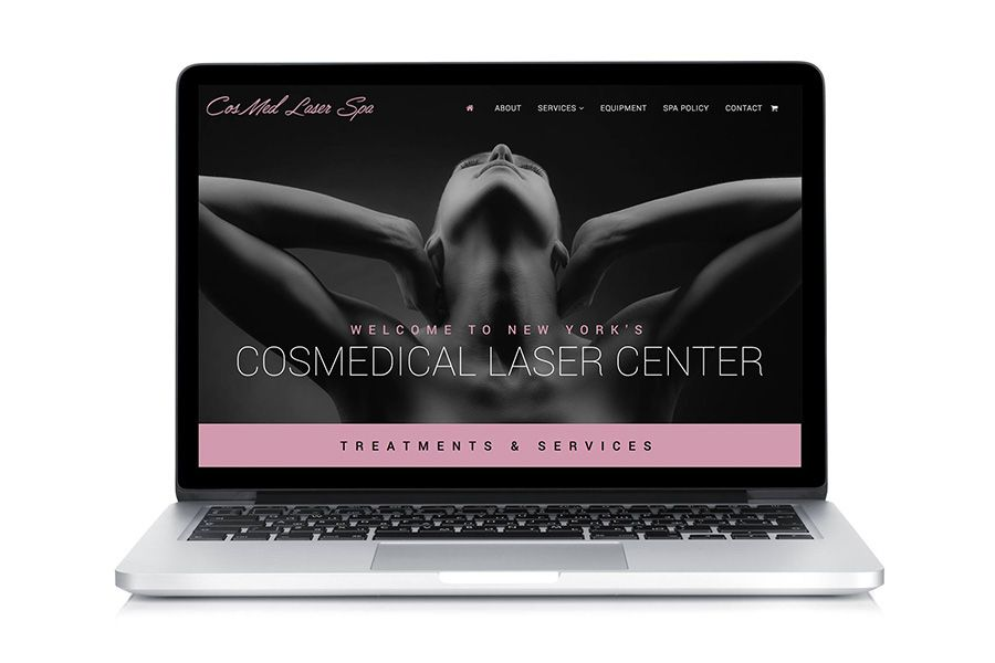 salon spa website design
