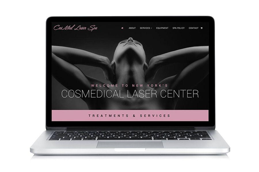 salon spa website design