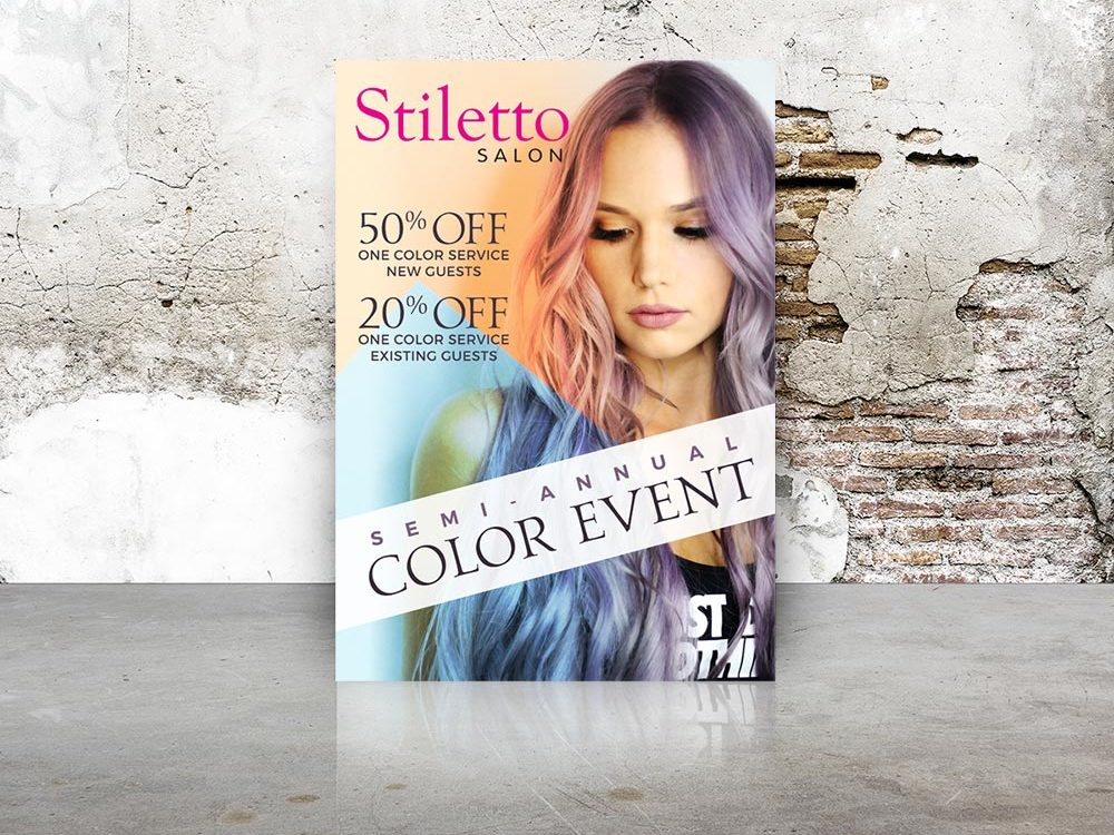 Stiletto Salon Flyer Design