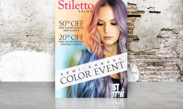 Stiletto Salon Flyer Design